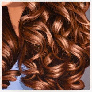 Brunette,_Curls,_Purple_Blouse_2009_Oil_on_wood_panel_10x10inches_Shinji_Otani