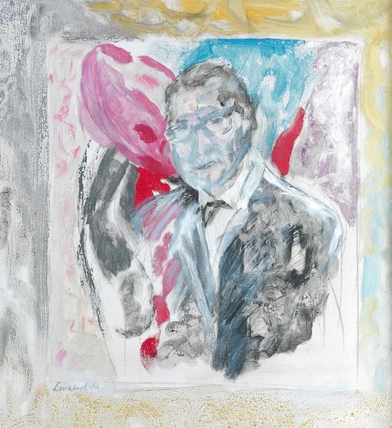 Portrait d'Yves Saint Laurent Lucebert Bergarde