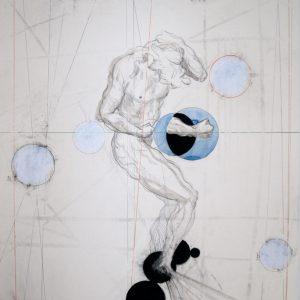 2. zonder titel, gem. techniek op papier, 100 X 70 cm, 2018